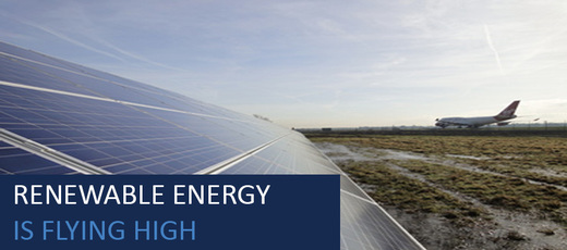 Airports, flying high with renewables!