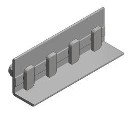Valk - Alu Coupling for Side + Profile + 4x hammerhead bolt