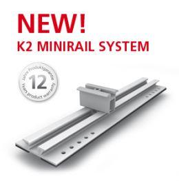 K2 - MiniRail Set c/w End clamp (P1000080)