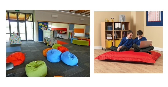 The Benefits Of Using Bean Bags In Reading Areas Cant Be Overlooked Either Bright Colours Create A Fun Experience For Them And Enhances Concentration
