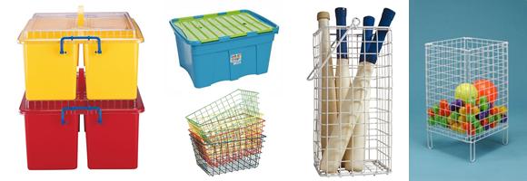 Sports Equipment Basket Storage