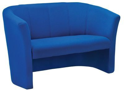 Blue Fabric Two Seater Sofa