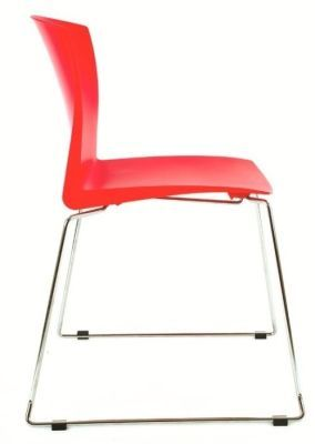 Stack HD Multipurpose Seating In Red Side View