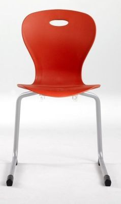 Solar Rear Cantilever General Purpose Chair In Red With Grey Frame