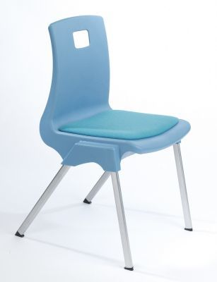Stylus Poly Education Chair With Seat Pad In Baby Blue