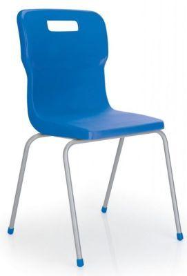 Titan 4 Leg Classroom Chair In Blue