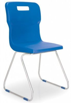 Titan Poly Chairs With Skid Base Design In Blue