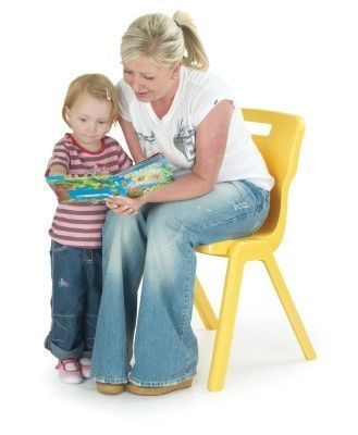 Titan One Piece Poly Chair With Parent And Child Reading
