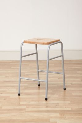 Series 25 Stacking High Stool In Beech 2