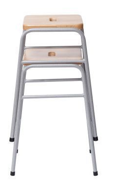 Series 25 Stacking High Stool Stacked Side View