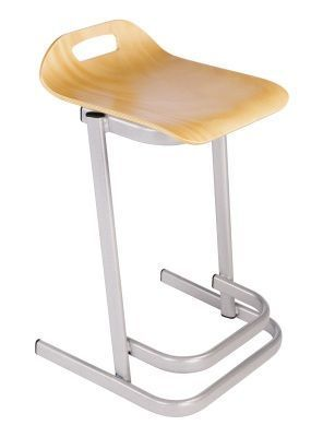 35 Series High Stools In Beech Angled View