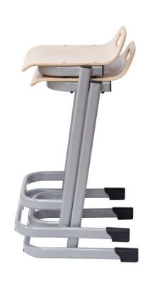 35 Series High Stools Stack Side View