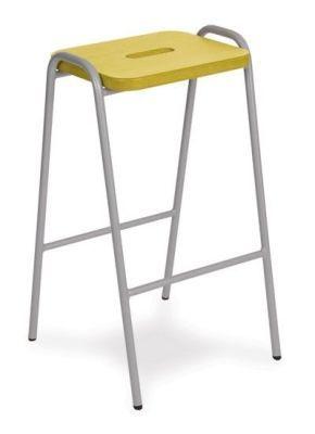 Tito Laboratory Stool In Yellow