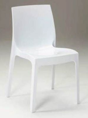 White Gloss Plastic Chair Outdoor