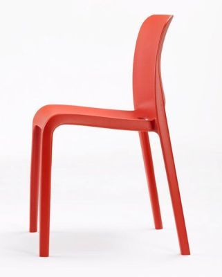 POP Red Moulded Polypropylene Chair