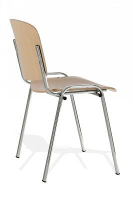 Iso Commercial Wooden Chair With Beech Laminate