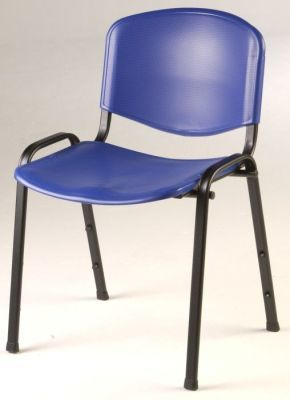 Tommy Dark Blue Classroom Chair With Moulded Polymer Seat