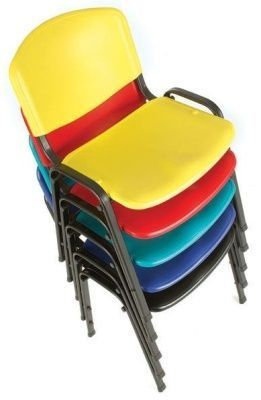 Tommy Chair Stack In Black, Dark Blue,light Blue,red And Yellow Colours