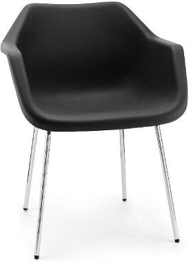 Robin Day Poly Chair Black Facing