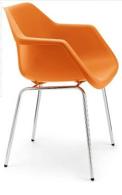 Robin Day Classic Poly Chair In Orange