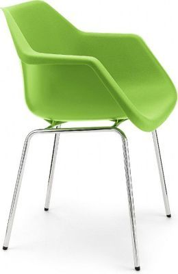 Robin Day Classic Poly Chair In Lime Green