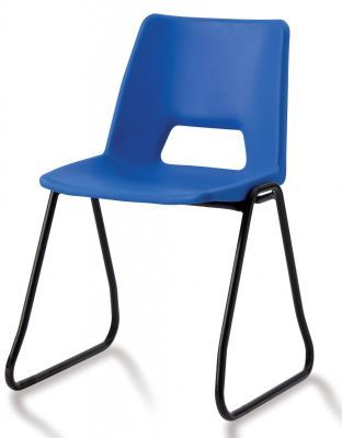 Pp1 Poly Chair With A Skid Frame