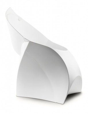 Flux Foldiong Poly Chaitr In White Side View