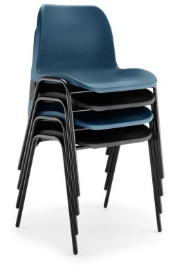 Eco Poly Chairs Stacked