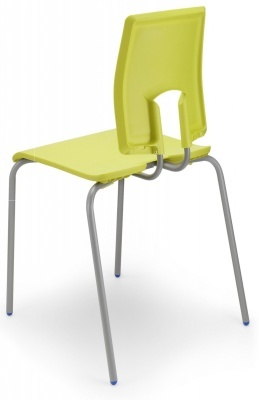 Sesame Poly Classroom Chair Rear View In Leaf Green