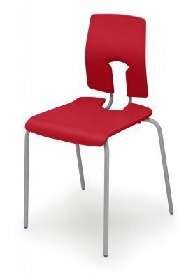 Sesame Poly Chairs Scarlet Red