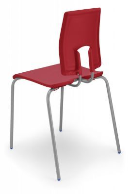 Seame Poly Chair Rear View Scrarlet Red