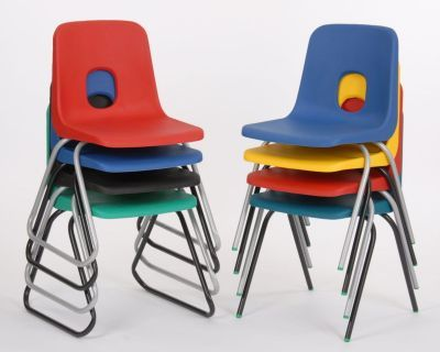 Ethel Poly Chairs Stacked 3