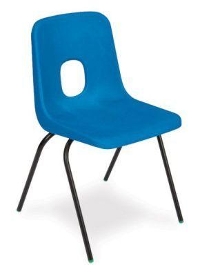 Ethel 4 Leg Poly Chair In Blue