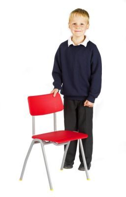 Bellos Classroom Chair In Red 2