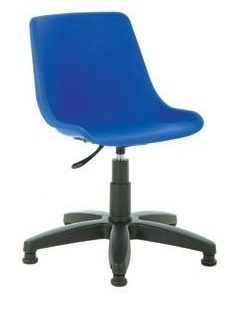 Poly Swivel Chair In Blue