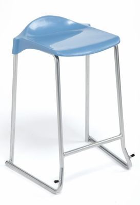 Adl Stackable Stools Soft Blue Seat