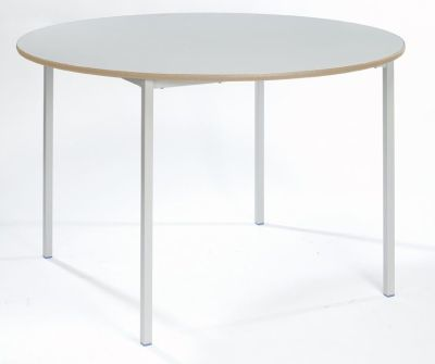 Ms Fully Welded Circular Table White Top