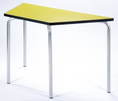 Equation Trapezoidal Classroom Table With A Yelllow Top