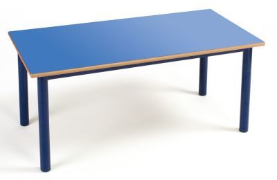 Premium Rectangular Nursery Table Blue Top