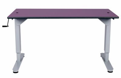 8002 Height Adjustable Desk Front View