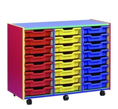 Colour My World Multi Coloured 24 Shallow Tray Unit