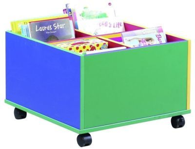 Green Blue Colour My World 4 Bay Kinderbox Storage Unit