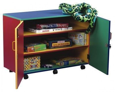 Colourful Mobile Colour My World Cupboard With Adjustable Shelves