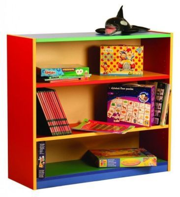 Colourful Colour My World Bookcase With Books And Toys