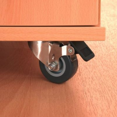 Beech Busybase Mobile Book And Tub Storage With Castors