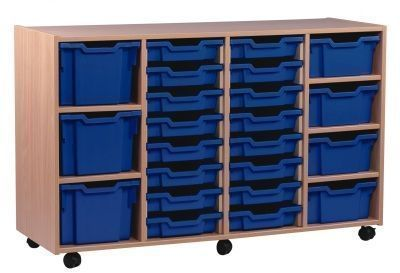 Multi Tray Storage Unit 1 With Blue Drawers