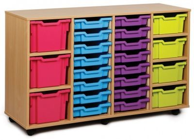 Multi Tray Storage Unit 1 With Red Drawers