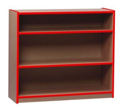 Coloured Edge Open Bookcase