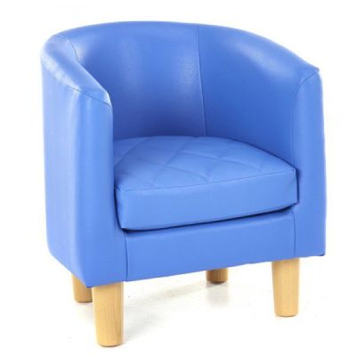 Tyrone Quiled Childrens Tub Chair Blue