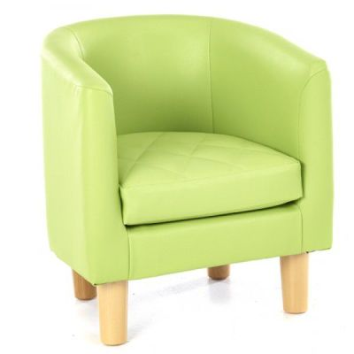 Tyrone Childrens Tub Chair Lime Green